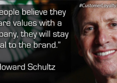 Howard Shultz Starbucks Customer Experience Quote