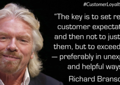 Richard Branson Virgin Atlantic Customer Experience Quote