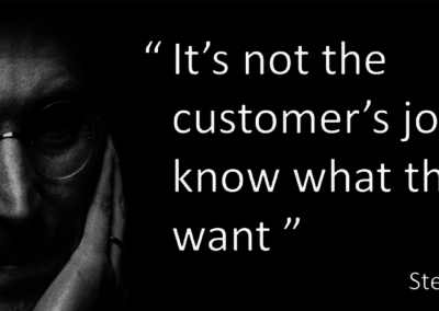 Steve Jobs Customer Experience Quote