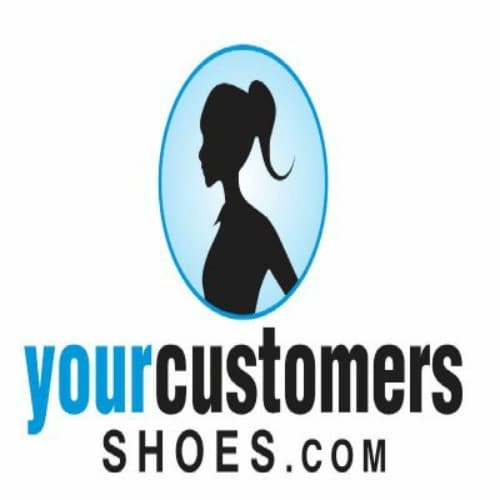 Your Customers Shoes Logo Woman Profile Ponytail
