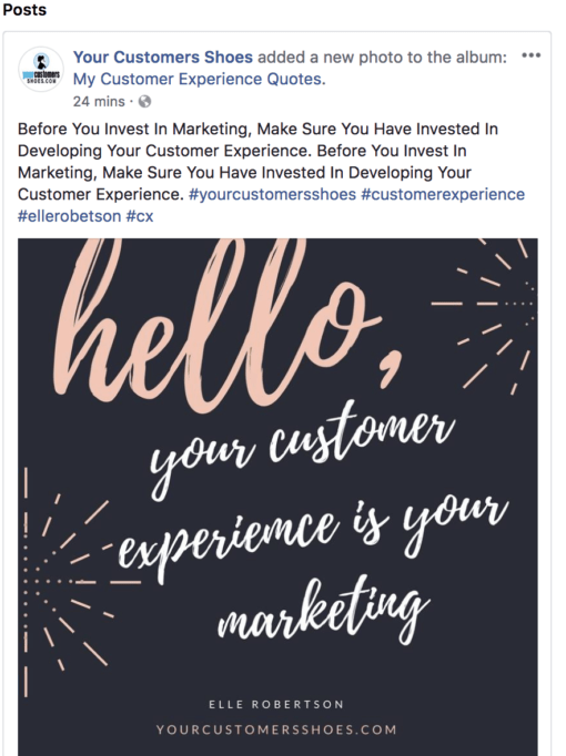 your customers shoes social media posts