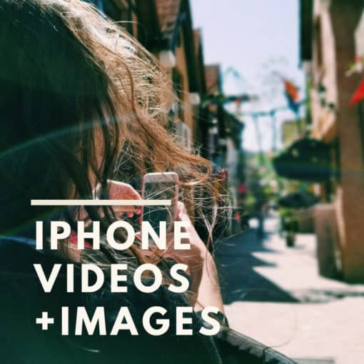 iphone videos your customers shoes