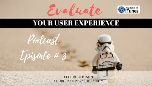 evaluate your user experience your customers shoes podcast episode 3
