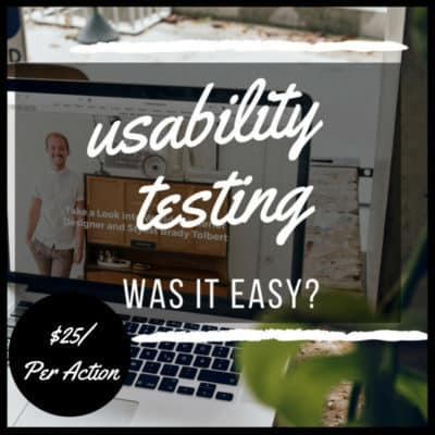 usability testing your customers shoes